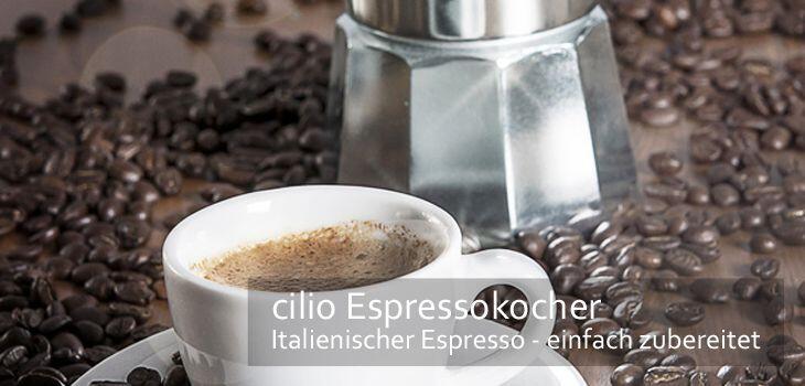 cilio Espressokocher - original italienischer Espresso einfach zubereitet