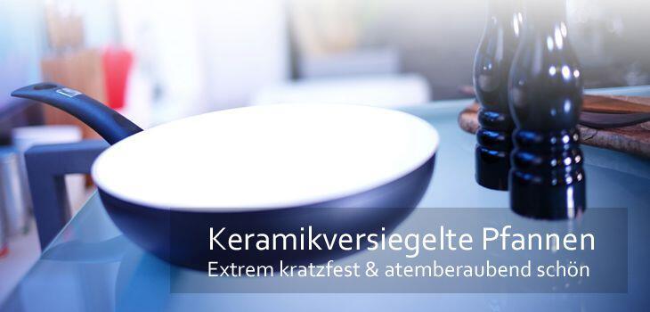 Pfannen mit Keramikbeschichtung - extrem kratzfest und atemberaubend schön
