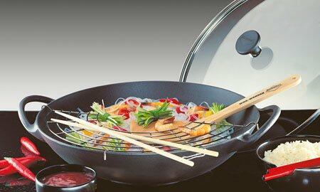 Schonende Zubereitung ist en Wok