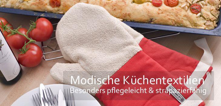 Modische Küchentextilien bei KochForm - Strapazierfähig, pflegeleicht und schön