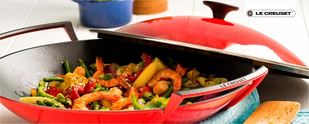 Le Creuset Woks - der Wok für knackiges Gemüse & knusprige Ente
