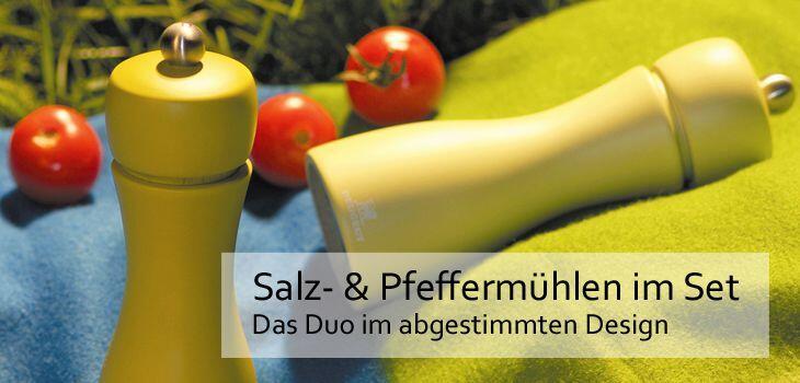 Salz- & Pfeffermühlen im Set von Peugeot - Das Duo im abgestimmten Design