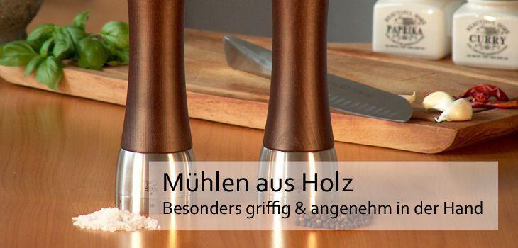 Peugeot Mühlen aus Holz - Besonders griffig & angenehm in der Hand