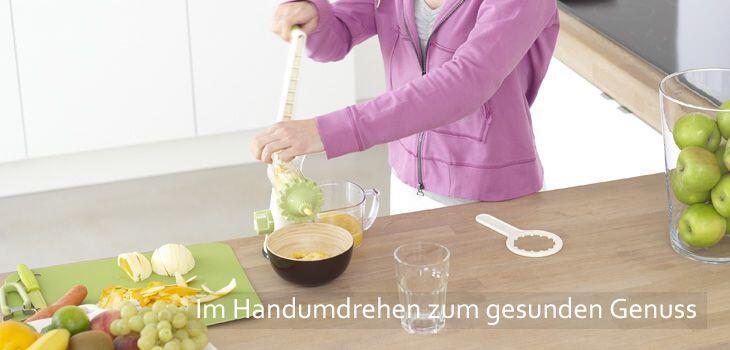 Mechanische Küchenhelfer - im Handumdrehen zum gesunden Genuss