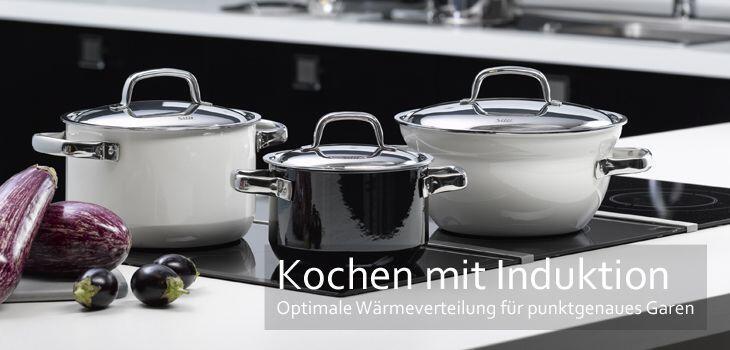 Kochen mit Induktion - Optimale Wärmeverteilung für punktgenaues Garen
