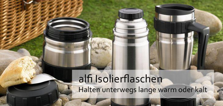 alfi Isolierflaschen - Halten unterwegs lange warm oder kalt