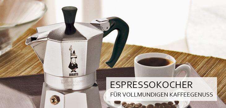 Original italienische Espressokocher - der kleine Schwarze einfach und schnell zubereitet