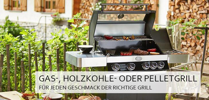 Gas-, Holzkohle- oder Pelletgrill - für jeden Geschmack der richtige Grill
