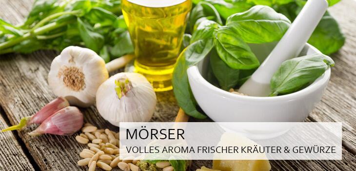 Küchenmörser - das volle Aroma frischer Kräuter und Gewürze genießen