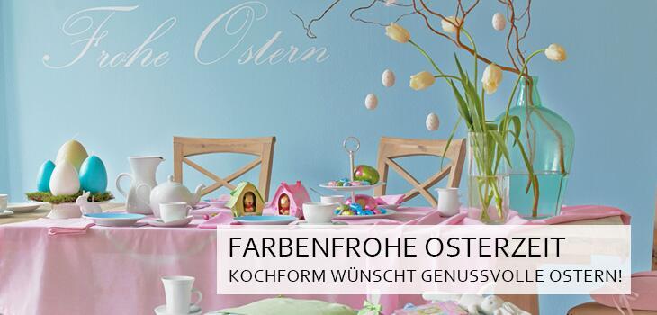 Farbenfrohe Osterzeit - KochForm wünscht genussvolle Ostern!