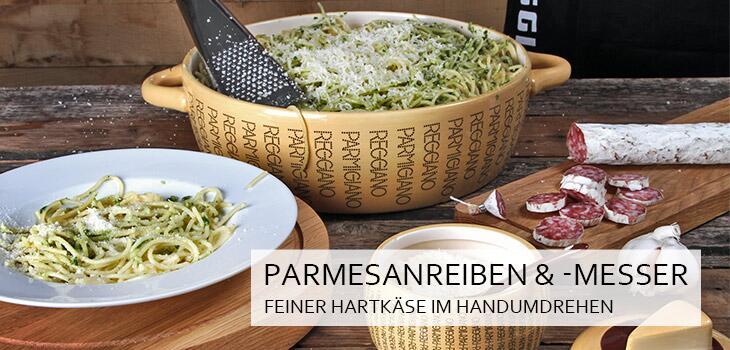 Parmesanreiben & Parmesanmesser - Feiner Hartkäse im Handumdrehen