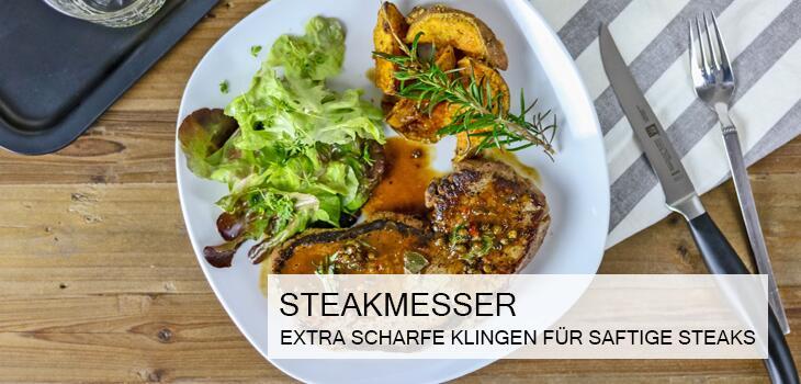 Steakmesser - Extra scharfe Klingen für saftige Steaks
