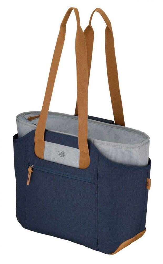 alfi Isoliertasche isoBag M Premium in blau/braun, 23 L