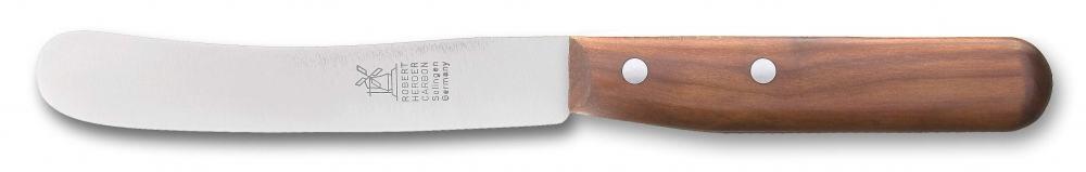 Frühstücksmesser Buckelsklinge von Windmühlenmesser Kirschholz (nicht rostfrei)