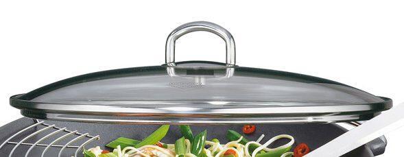 Küchenprofi Ersatzglasdeckel für Wok Set Premium