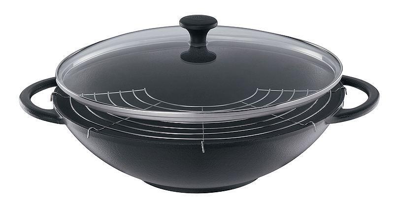 Küchenprofi Wok Set Provence in schwarz