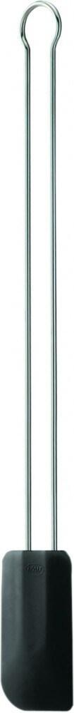 Rösle Teigschaber Silikon lang in schwarz, 26 cm