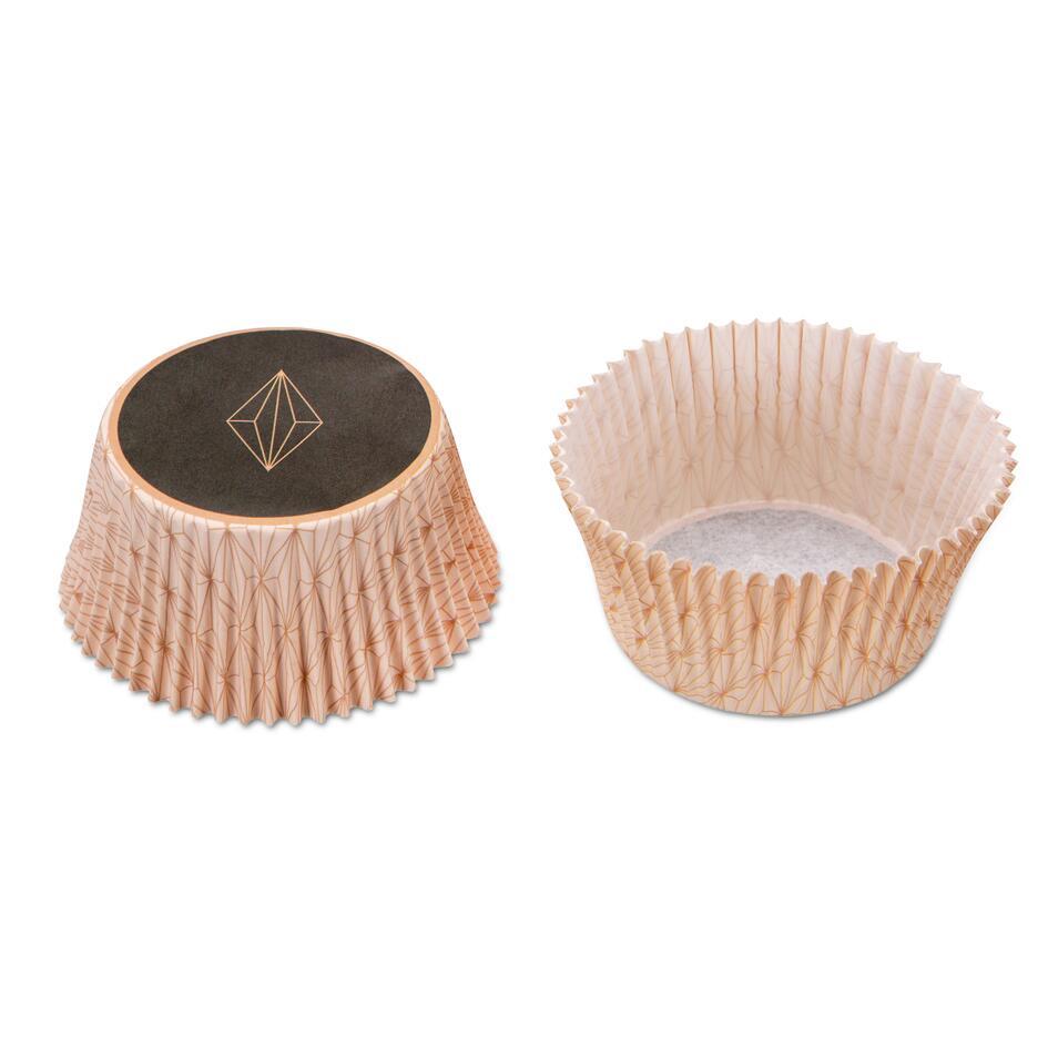 Städter Papierform Vanilla Diamonds Ø 5/7 cm / H 3 cm Bunt Maxi 50 Stück