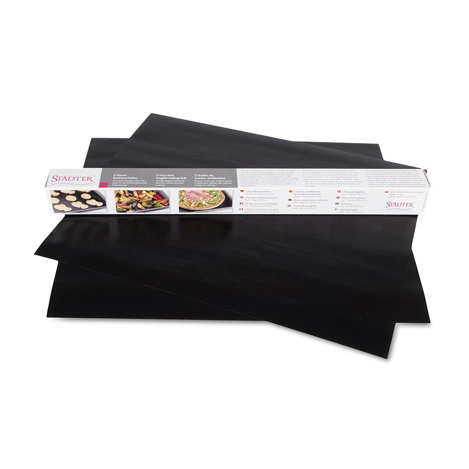 Städter Backofenfolie Dauer-Backtrennfolie 33 x 40 cm Schwarz 2 Stück