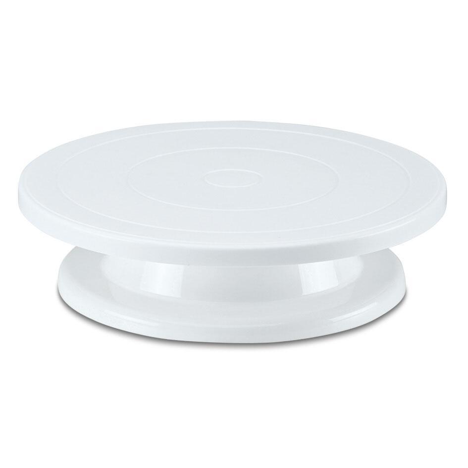 Städter Tortendeko Tortenplatte Ø 27,5 cm / H 7 cm Weiß drehbar