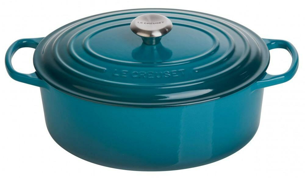 Le Creuset Bräter Signature oval in deep teal