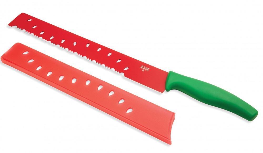 Kuhn Rikon Melonenmesser groß, grün/rot