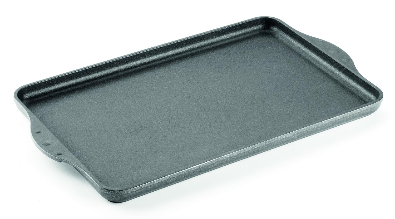 Woll Guss-Grillplatte/Teppan-Yaki-Platte titanium nowo