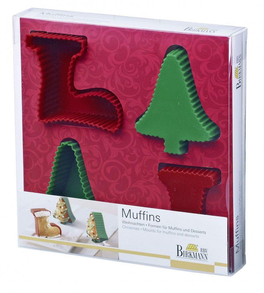 Birkmann Muffinform Weihnachten, 4-teilig