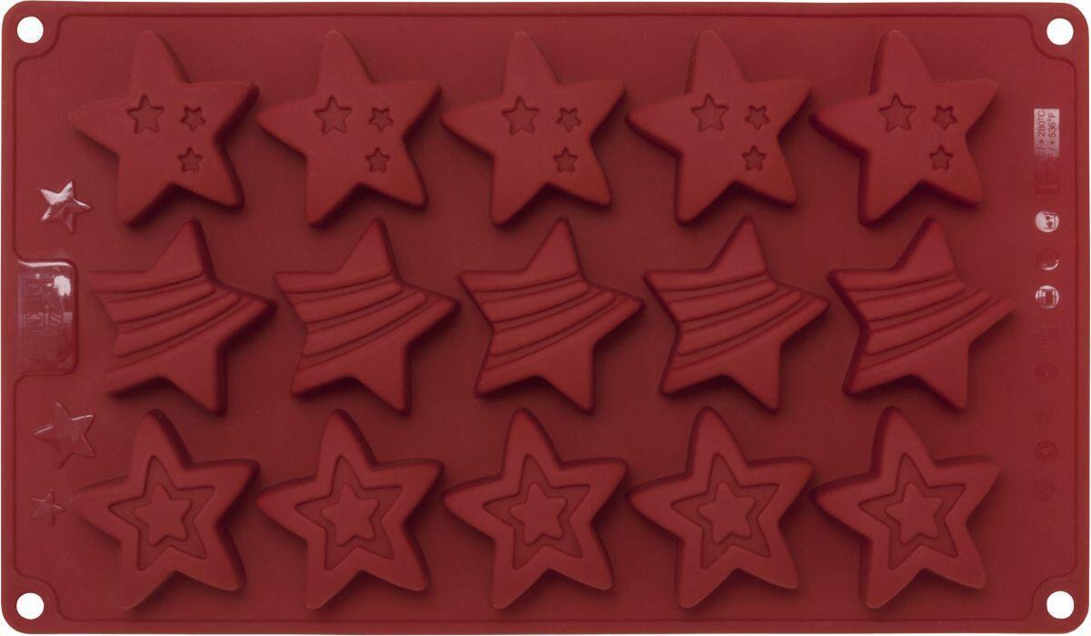 Birkmann Backform Stars aus Silikon, klein