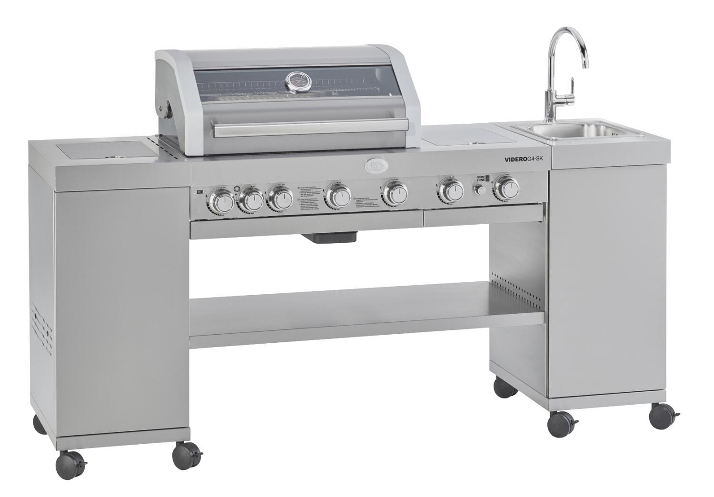 Rösle Gasgrill BBQ-Kitchen Videro G4-SK in Edelstahl