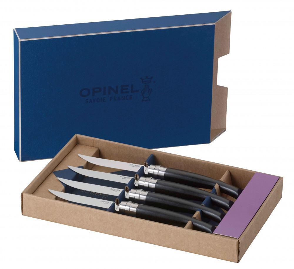 Opinel Steakmesser-Set Table Chic Ebenholz, 4-teilig
