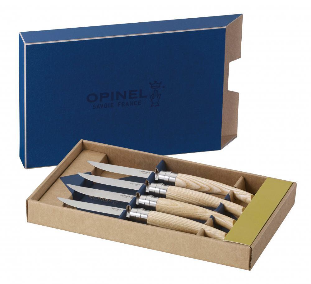 Opinel Steakmesser-Set Table Chic Eschenholz, 4-teilig