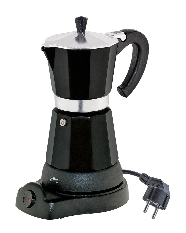 cilio Espressokocher Classico elektrisch in schwarz