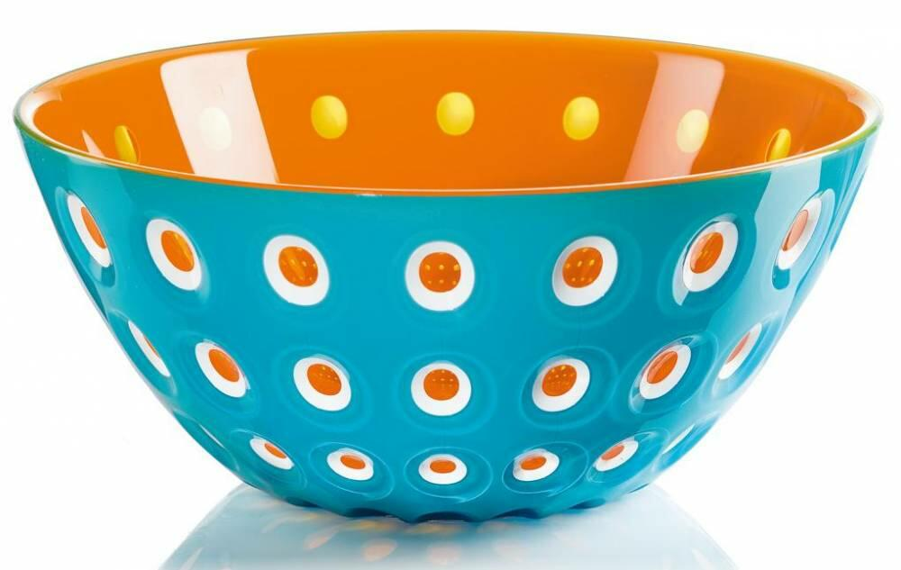 Guzzini Schüssel Le Murrine in türkis-orange