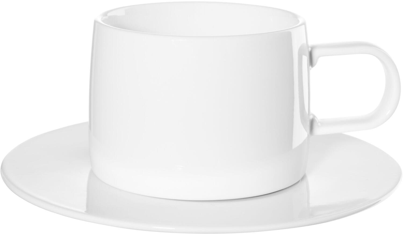 ASA Tasse Muga mit Untertasse in weiß