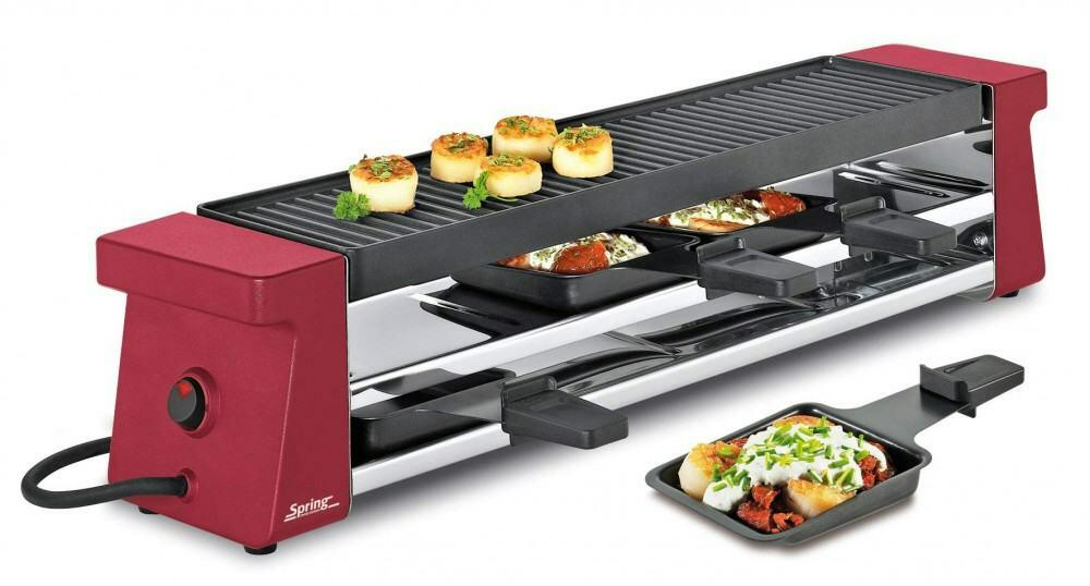 Spring Raclette4 Compact in Aluminiumguss, rot