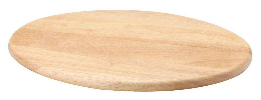 Continenta Schneidebrett oval groß aus Gummibaumholz