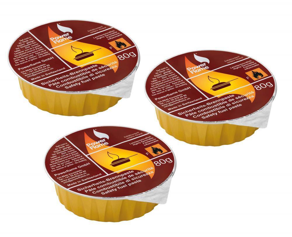 Kuhn Rikon Brennpaste für Pastenbrenner, 3 Stück
