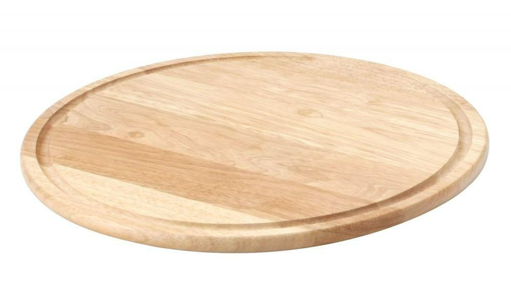 Continenta Pizzateller aus Gummibaumholz