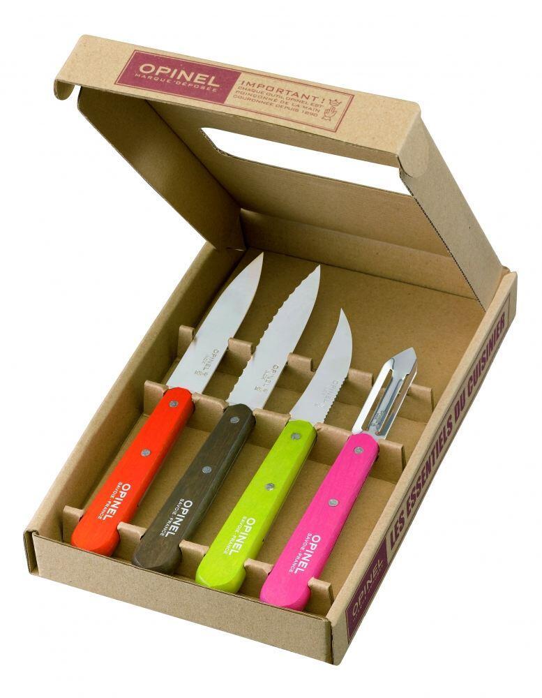 Opinel Küchenmesser-Set Les Essentiels Fifties, 4-teilig