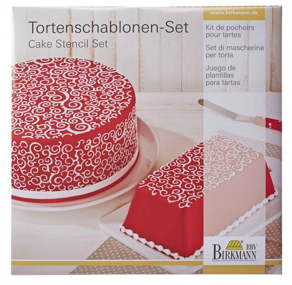 Birkmann Torten Schablonen-Set Kringel, 2-teilig