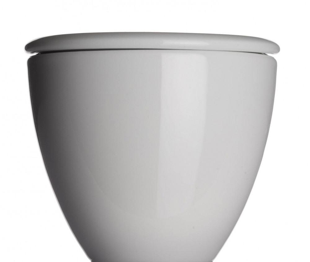 Collezione Alta Zuckerdose von Porzellanfabrik Walküre, weiß