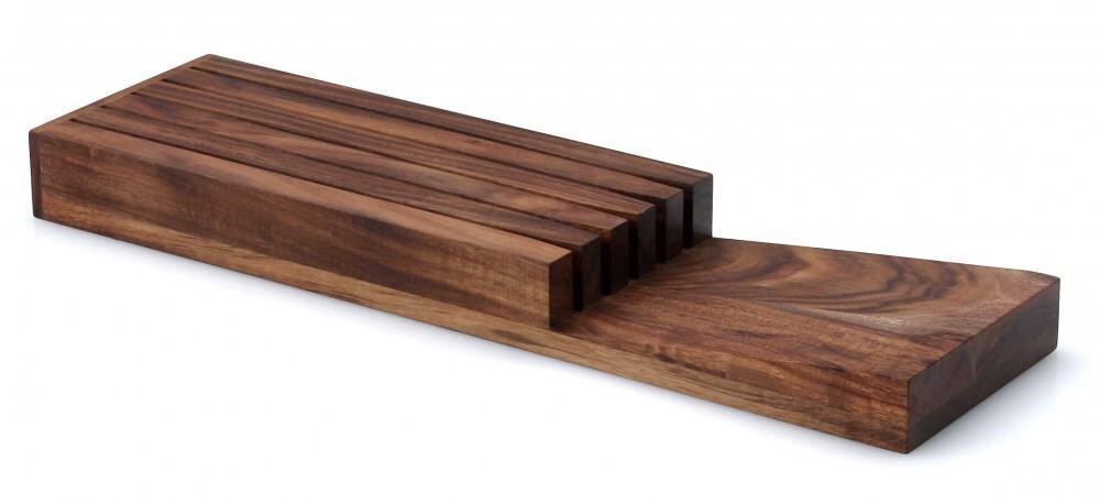Continenta Messerblock aus Akazienholz für Schublade, unbestückt