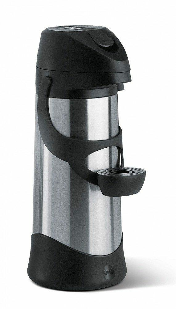 Emsa Pump-Isolierkanne Presto Edelstahl/Schwarz 3,0 l