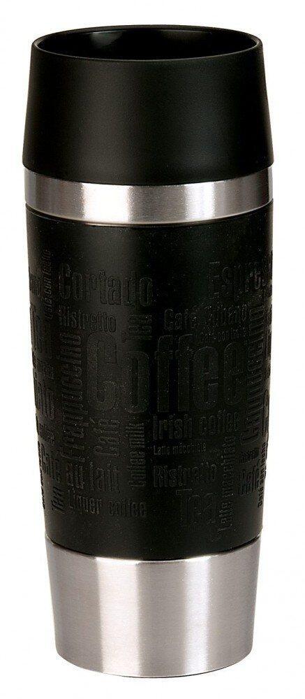 Emsa Isolier-Trinkbecher mit Manschette Travel Mug in schwarz