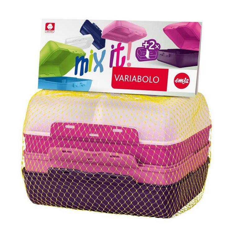Emsa Kids Lunchbox Variabolo Girls, 4-teilig