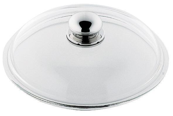 Glasdeckel mit Metallknauf für Pfannen von Silit