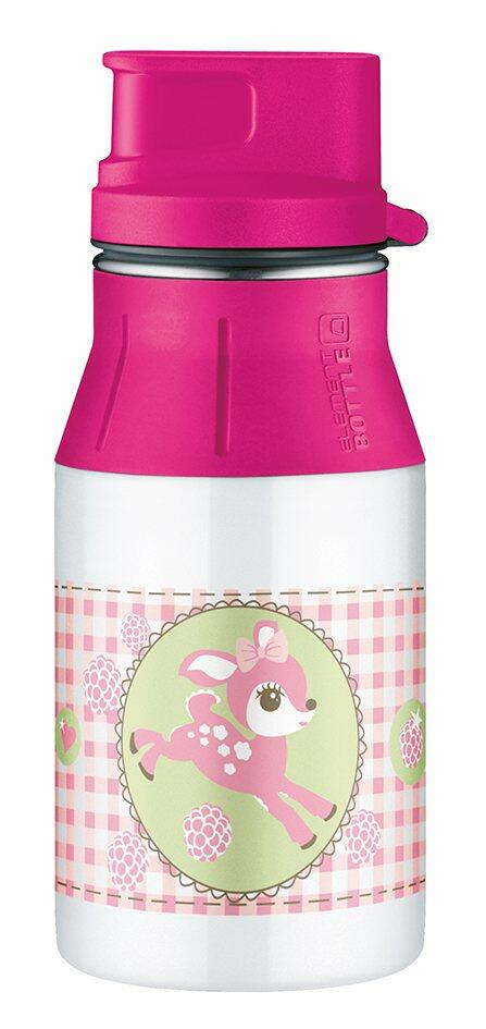 alfi Trinkflasche elementBottle Little doe mit Trinkverschluss 0,4 Liter in weiß