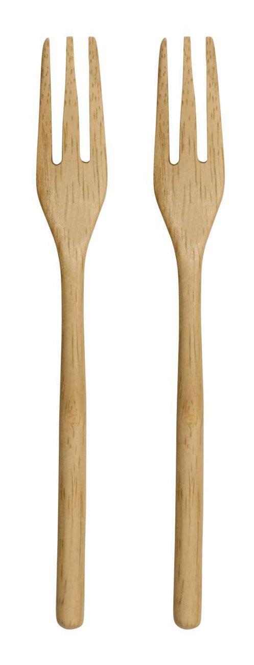 ASA Holzgabel 2er Set wood natur