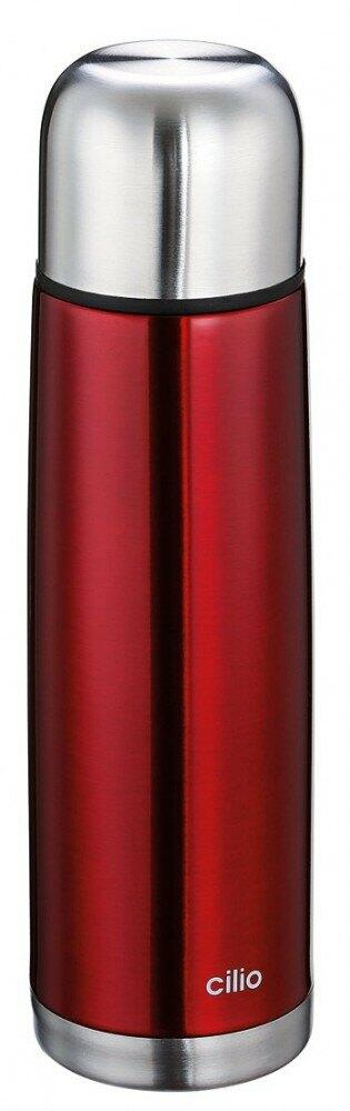 Cilio Isolierflasche Colore in rot